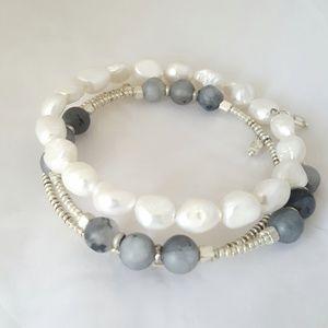 Artisan - Stone & Freshwater Pearl Layer Bracelet